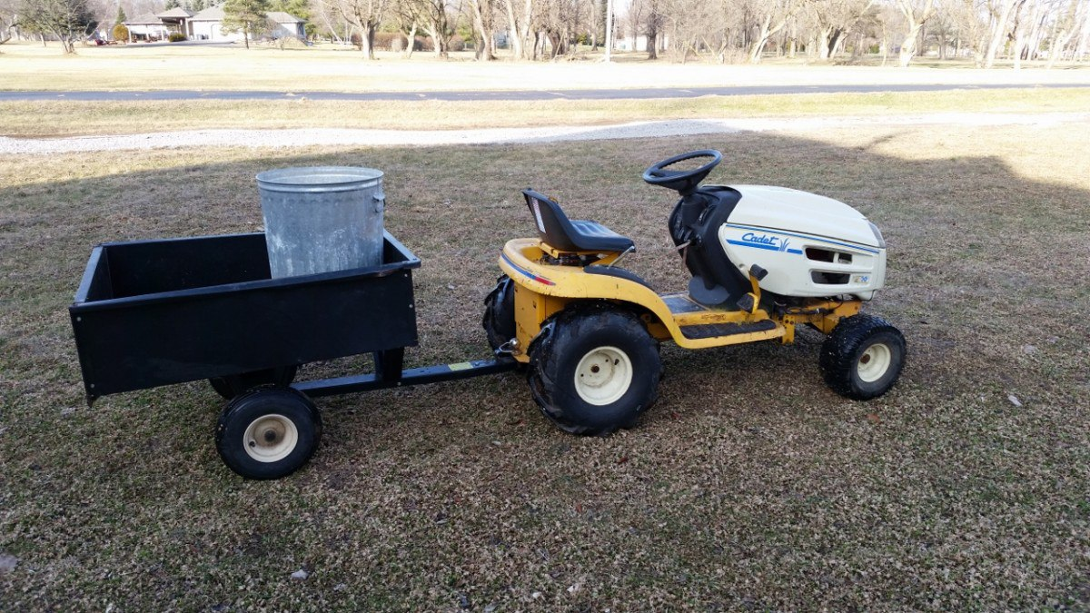 Re-purposing a riding mower as a mini homestead tractor